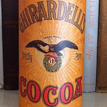 "Ghirardelli cocoa ""tin"" - Advertising"