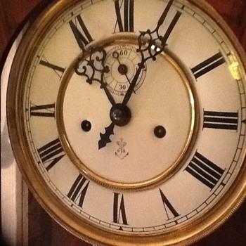 Gustav Becker(65.5) wall clock circa 1912 - Clocks