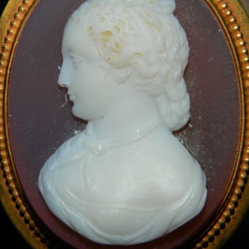 Late victorian agate cameo I enhanced! - Fine Jewelry
