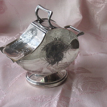 English Silver Plate Sugar Scuttle - Silver