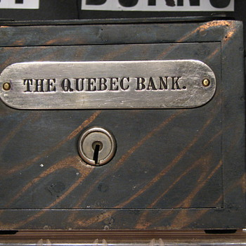 The Quebec Bank,Promotional Advertising Steel Bank - Advertising