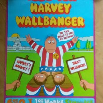 Wallbanger Drinking Poster 1972 - Politics