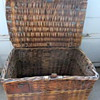 English Flat top wickers steamer trunk or old mill skip