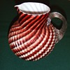 "Victorian Art Glass ""Cottage Glass"" pitcher"