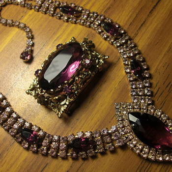 Russian Amethyst Necklace and Brooch - Fine Jewelry
