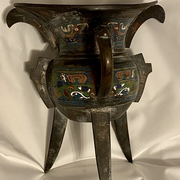 Cloisonné Tri-leg Wine Vessel - Asian