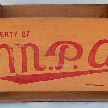 M.P.A. C.C. CAL. Wooden Crate - Advertising