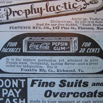 Coca-Cola Pepsin Gum Ad - Coca-Cola