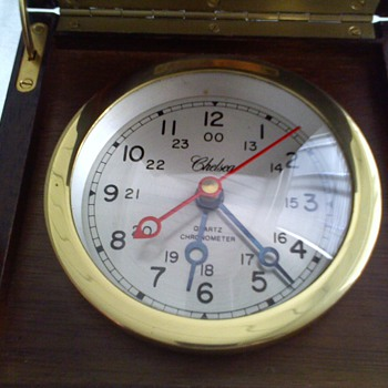 fairly old,..but no that old Chelsea quartz chronometer - Clocks