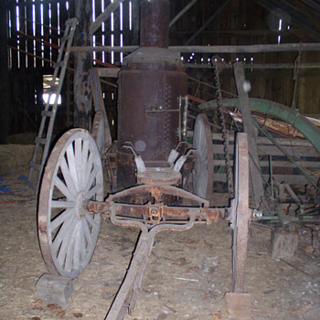Antique 1890's Horse Drawn Steam Fire Engine Chassis