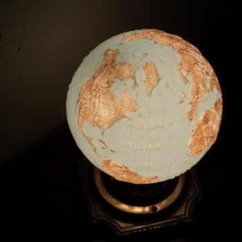 My Art Deco Glass Globe Desk Light
