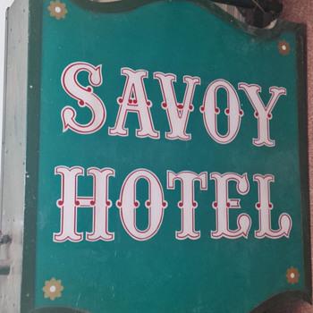 Antique Original Sign from The Savoy Hotel, Kansas City