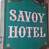 Antique Original Sign from The Savoy Hotel, Kansas City