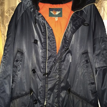 Military Jacket in style of VTG Snorkel Artic Parka w/ unknown & disturbing label!