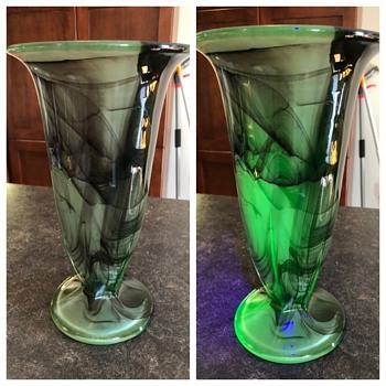 Walther & Sohne Sepia Oralit vase.  - Art Glass