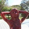 My red Cast Iron Mermaid