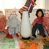 Clowns & Cowboy w/ Union Jack & Old Glory