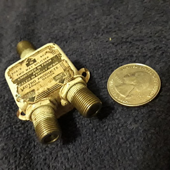 old cable TV splitter - Electronics