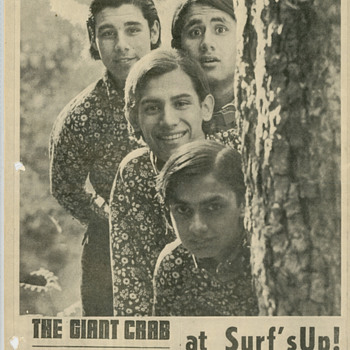 Original 60's GIANT CRAB Psychedelic Band Flyer  - Posters and Prints