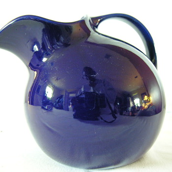Striking Cobalt Blue Pitcher by Hall - Pottery