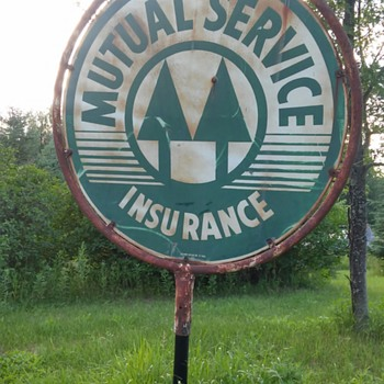 Vintage Metal Advertising Sign from old Hwy 61