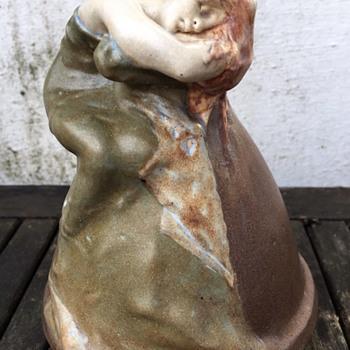 Art Nouveau Symbolist Stoneware Vase - Art Nouveau