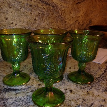 green carnival glass