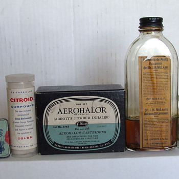 Items From an Old Medicine Cabinet