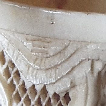 Repost of ivory carving including a possible carvers mark  - Asian