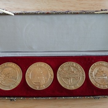Set of 4 Chinese Medallions.