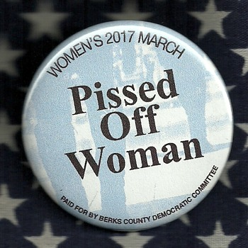 2017 Woman.s March in Washington D.C. pinback button