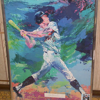 Rusty Staub New York Mets Signed Leroy Neiman - Baseball
