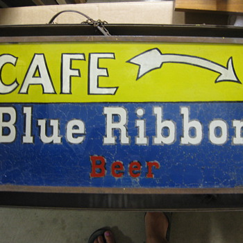 "Blue Ribbon ""Cafe"" sign - Signs"