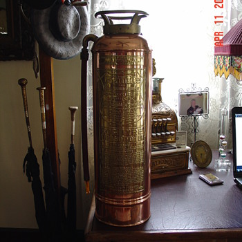 Copper Fire Extinguisher With Brass Name Plate - Firefighting