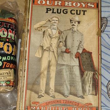 Marburg Bros ; Our Boys Plug Cut Smoking Tobacco  - Tobacciana