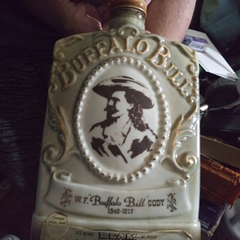 1978 Buffalo bill, jim bean. Whisky bottle  - Bottles