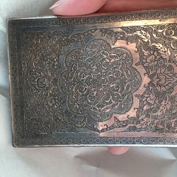 Persian/ottoman silver cigarette case - Silver
