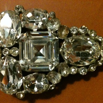 Rhinestone Dress Clip - Costume Jewelry