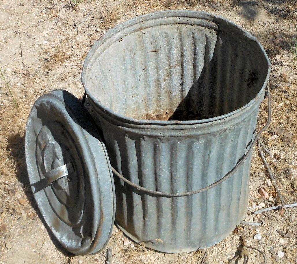Vintage Metal Trash Can