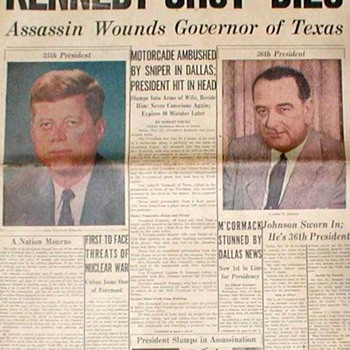 "Chicago Tribune ""Kennedy Shot-Dies"" - Nov. 23, 1963 - Paper"