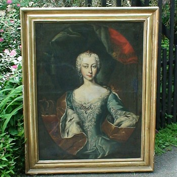 "Maria Theresa Very Large Portrait ( ""Attributed to Carle Vanloo"") 58 3/4"" H X 39"" W - Fine Art"