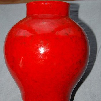 Red Vase_Italian Art Pottery_PV Peasant Village? - Pottery