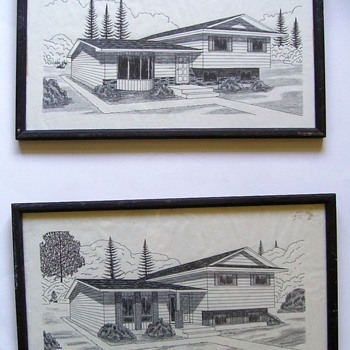 1960's -- CONCEPT Drawings of House - Mid-Century Modern