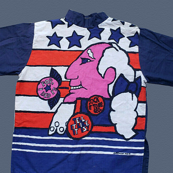Unique NYC 1960's POP ART Top Shirt with George Washington - Womens Clothing