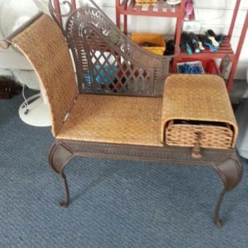 Wicker Gossip Bench - Furniture