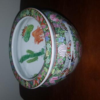 Porcelain Chinese Fish Bowl