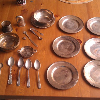 Vintage Sterling Plates, Spoons and Misc. - Silver