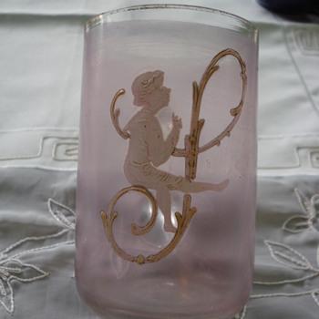 Mary Gregory mug glass