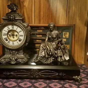 Figural Ansonia Mantel Clock - Clocks