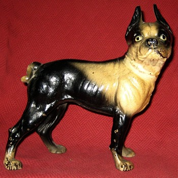Another Right Facing Boston Terrier Doorstop - Animals